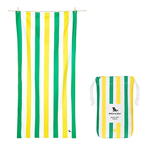 Dock & Bay Sand Free Beach Towels for Kids - & Adults, Travellers - Paradise Picnics, Large (160x80cm, 63x31) Clear
