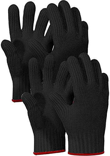 Killer's Instinct Outdoors 2 Pairs Heat Resistant Gloves Oven Gloves Heat Resistant with Fingers...