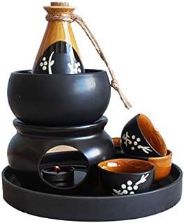 Miruike Miruike Sake-Servier-Set aus Keramik mit Stövchen m