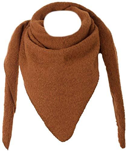 Eitex Damen XXL Schal 3 Eck Tuch flauschig Warm Stola Poncho Herbst Winter Schal (mocca)