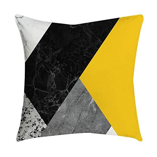 Kaiki Leinen Kissenbezug Kissenbezüge mit Geometrischen Mustern Baumwolle Leinen Zierkissenbezüge Lendenkissen Sofa Kissenhuelle für Wohnzimmer Schlafzimmer Christmas 45x45cm (18x18\'\', L)