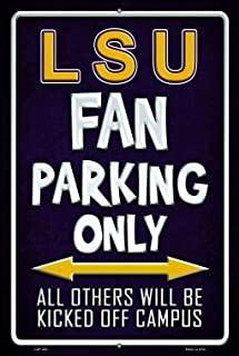 Losea LSU Retro Vintage Metal Tin Signs Rustic Wall Art Sign,12x16 Inches