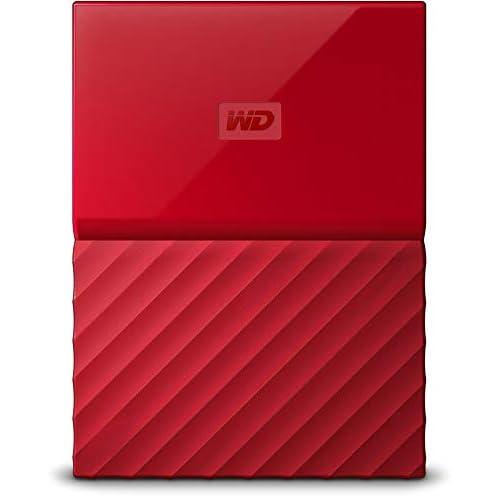 Western Digital My Passport Hard Disk Esterno Portatile, USB 3.0, Software di Backup Automatico, per PC, per Xbox One e PlayStation 4, 4 TB, Rosso