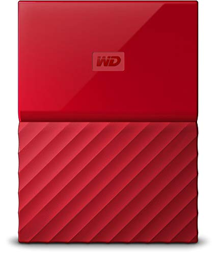 WD 3TB Red My Passport Portable External Hard Drive - USB 3.0 - WDBYFT0030BRD-WESN