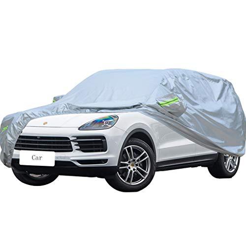 Couverture de voiture Compatible avec Porsche Cayenne Car Cover Car spécial Housse de protection épaisse Oxford Tissu Vent Et La Pluie Et Anti-Rayures Chaud Vêtements De Voiture