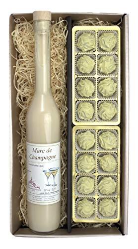 Confiserie Bauer, Lauenstein - Marc de Champagne-Likör + Marc de Champagne-Trüffel Pralinen