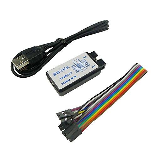 KKHMF 24MHz 8チャンネル USBロジックアナライザ 8CHロジックアナライザ UART IIC SPI デバッグ MCU FPGA A...