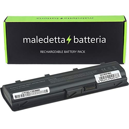 MaledettaBatteria batteria per HP G32 G42 G62 G72 G4 G6 Compaq Presario CQ32 CQ42 CQ43 CQ56 CQ62 CQ72 SOSTITUISCE MU06 593553-001 593554-001 MU09 HSTNN-LB0W 636631-001 593550-001 [5200mah 6-celle]