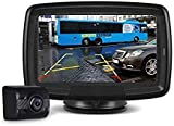 AUTO-VOX Digital Wireless Backup Camera and Monitor Kit TD-2, Stable Signal Reverse Camera Kit with Super Night Vision, IP68 Waterproof Rear View Camera for Truck, Minibus, Van, Trailer