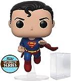 dc comics: Flying Superman 80th Anniversary Funko Pop! Specialty Series - Figura de Vinilo (Incluye Funda Protectora de Caja desplegable)