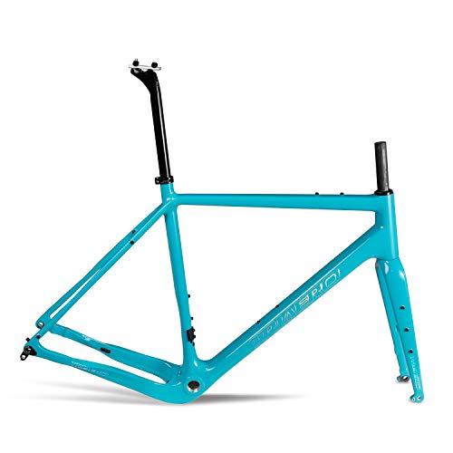 ICAN X-Gravel Carbon Gravel Bike Frameset Flat Mount BSA 54cm Thru-axle 12100/12142mm