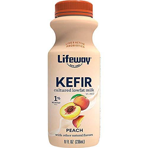 Lifeway Low Fat Peach Kefir, 8 Fluid Ounce -- 6 per case.