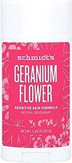 Schmidt's Geranium Flower Sensitive Skin Deodorant Stick, 92 Grams