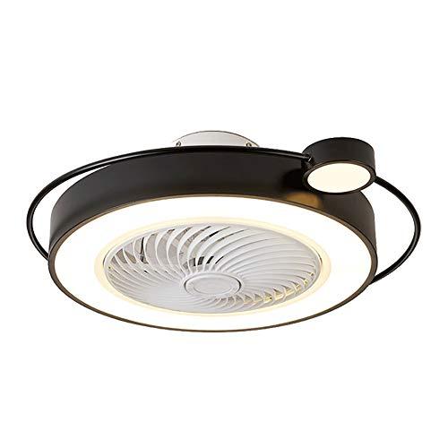 Ventilador De Techo Con Luz, LED RGB 45W, Simplicidad Moderna, Diseño Exclusivo, Mando Distancia, 3 Velocidades, Velocidad Del Viento Ajustable, Acrílico, Planchar, Motor De Cobre, Duradero.