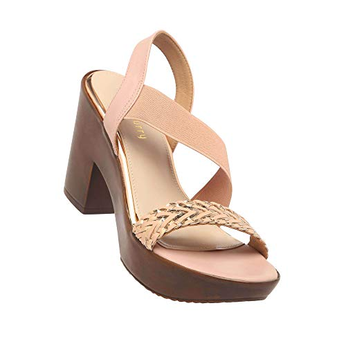 Haute Curry by Shoppers Stop Womens Casual Wear Slip On Heels (Pink_39)