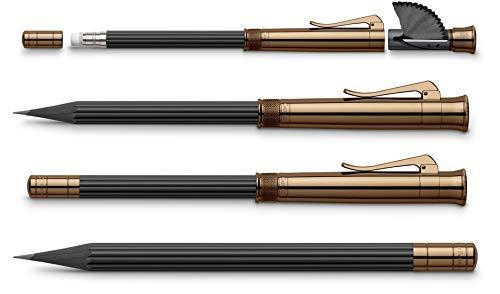 Graf von Faber-Castell der Perfekte Bleistift Brown Edition, B Mine, inklusive Spitzer und Radiergummi in der Kappe, 118536
