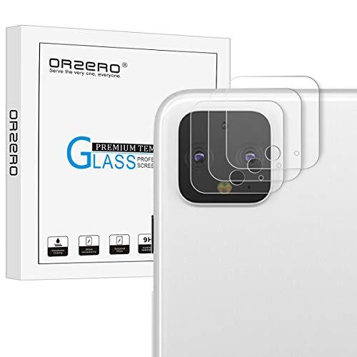 NEWZEROL Kompatibel mit Google Pixel 4 XL Kamera Flexibles Panzerglas Schutzfolie,4 stück 2.5D Arc Edge High-Definition Glasschutzfolie with CLAR