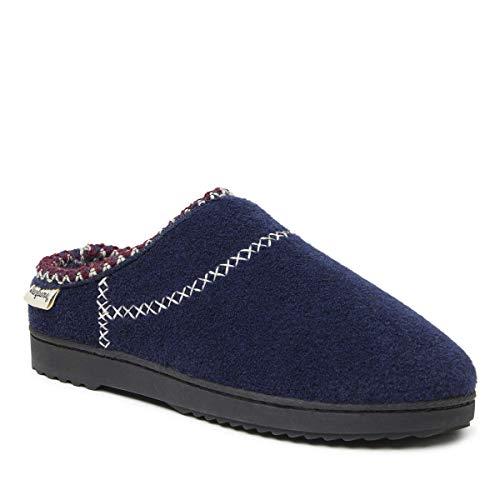 Vrouwen velted clog met X-stempel. Pantoffels voor dames. Schoen van textiel, inlegzool traagschuim, ademend en flexibel, uitstekend draagcomfort, wasbaar.