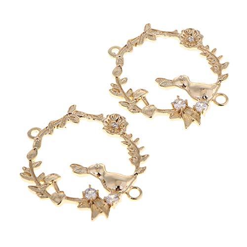 IPOTCH 2 Stücke Runde Schleife Charms Anhänger Schmuckanhänger für Armband Halskette Ohrringe Schmuck Deko - Kaninchen