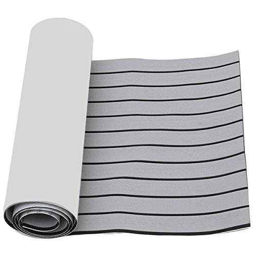 Hitommy 2400X600X6Mm Eva Foam Grijs Met Zwarte Lijn Boot Vloeren Faux Teak Decking Sheet Pad