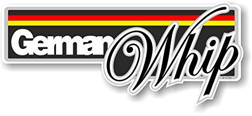 CTD Funny German Whip Slogan avec Drapeau Allemand Fantaisie Bumper Autocollant Motif Autocollant de Voiture en Vinyle 160 x 70 mm