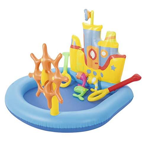 SUWIN Aufblasbarer Pool im Kreuzfahrtschiff-Stil, Kindersandpool, Kleinkindspielpool, Wasserballpool, 140X130X104CM