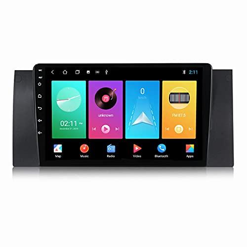 ADMLZQQ Android 10.0 In-Dash Car Stereo Radio Head Unit para BMW E39, Pantalla Táctil De 9 Pulgadas Carplay FM Am RDS Bluetooth GPS SWC DSP Cámara Trasera Ventilador,M100s 4core 1+16g