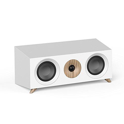 Jamo S 83 CEN Lautsprecher, schwarz, Nussbaum, weiß (kabelgebunden, 160 W, 65-26000 Hz, 8 Ohm, Schwarz, Nussbaum, weiß)