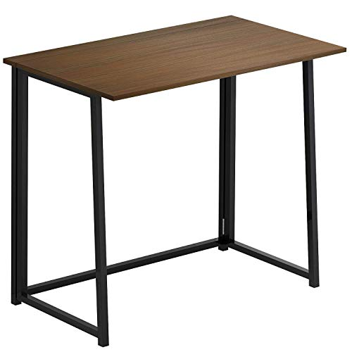 Priti Folding Desk, No-Assembly Small Computer Desk Home Office Desk Foldable Table Study Writing Desk Workstation for Small Space Offices