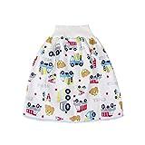 Manyao - Falda de pañal para bebé, pañales antifugas, lavable, falda de entrenamiento, braga de bebé oso L:2-4 años