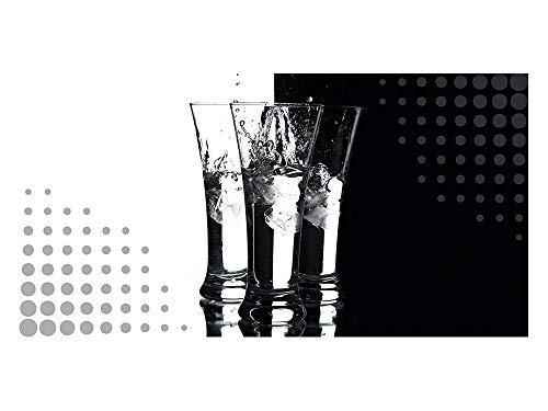 GrazDesign 991061 privacy film IJs - water - glazen | Bedrukte raamfolie | glasdecoratiefolie als inkijkbescherming voor keukenramen 110x57cm