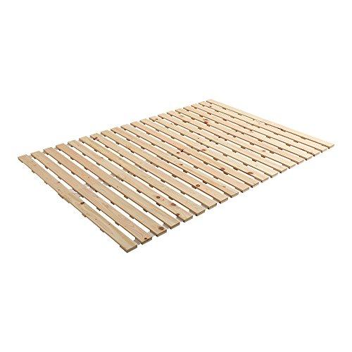 ヒノキのすのこベッド すのこマット ダブル ロール式 檜 木製 湿気対策 スノコ オールシーズン使えるすのこベッド 梅雨や冬の時期にも 省スペース フロアベッド ローベッド