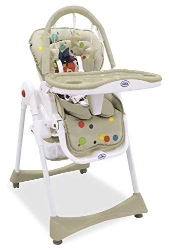 Asalvo Elegant - Trona 3 en 1 plegable para bebés, diseño molinillo, color beige