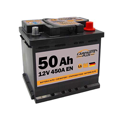 CARPARTS PLUS L150CARPARTS Batteria 50ah 450A 12V Polo DX