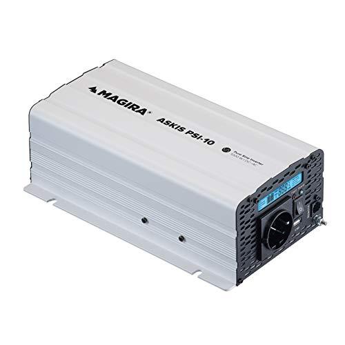 MAGIRA Askis 1000W 12V zu 230V Sinus-Wechselrichter PSI-10 mit reiner Sinuswelle für Wohnmobil oder Garten