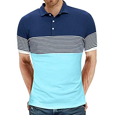 Men's Short Sleeve Polo Shirts Casual Slim Fit