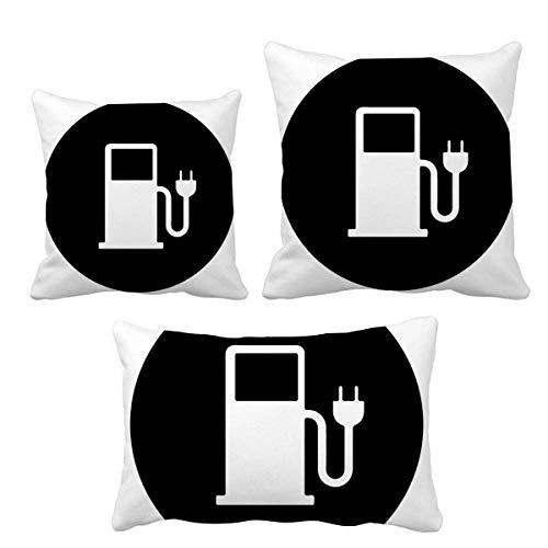 DIYthinker Charing Station Energy Vehículos Proteger el medio ambiente, juego de almohadas de relleno...