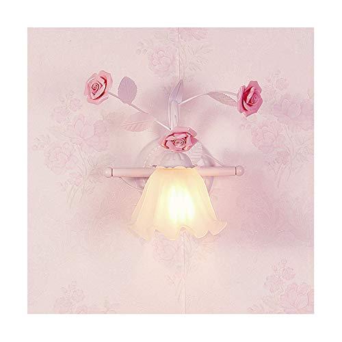 Tradicional E27 Lámpara de pared decorativas Florales Aplique de Pared Estilo Provenzal Lámparas de Pared Vidrio Deco Appliques lámparas Clásica de Metal Luz de pared para Sala de Estar Dormitorio 🔥