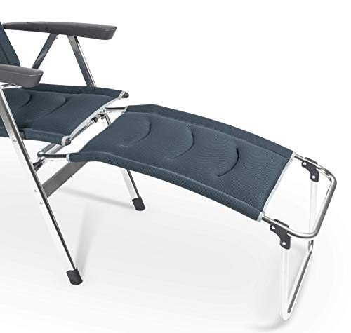 Dometic Milano Folding Outdoor Chair (Ocean Blue, Footrest)