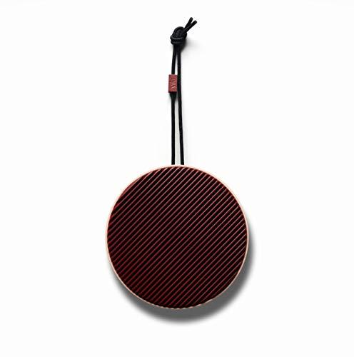 Vifa City - Bluetooth 5.0 Lautsprecher | Tragebare, kabellose Musikbox | Skandinavisches Design - Burgunder Rouge