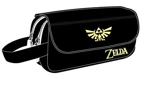 Zelda Bleistiftbox Neue Schüler der Mittelstufe, Grundschüler, Bleistiftbeutel für Männer und Frauen, Clamshell-Schreibwarenbox mit großer Kapazität The Legend of Zelda