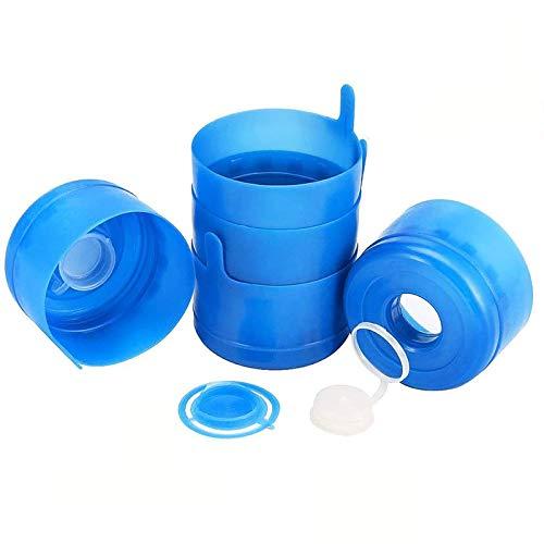 20 Pcs Non Spill Caps,Reusable 55 mm 3 and 5 Gallon Water Jugs Anti-Splash Bottle Caps
