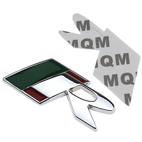 Emblema de aluminio 3D con logo de R para Jaguar