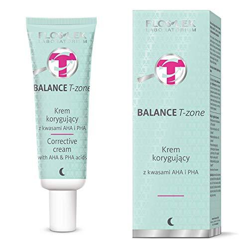 FLOSLEK Korrigierende Gesicht Nacht-Creme mit AHA und PHA Säuren | 50 ml | Fruchtsäure | Mischhaut unter Kontrolle | Hautpflege für Menschen jeden Alters | Für alle Hauttypen