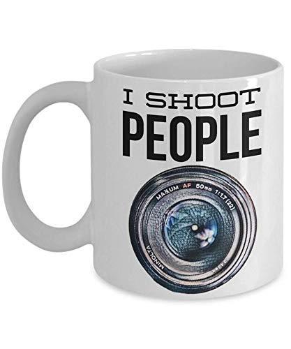 N\A I Shoot People Mug La Taza con Lente de cámara es un Gran Regalo para Nikon, Cano, 11 oz