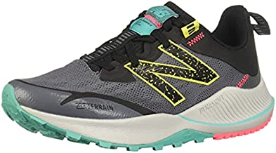 New Balance Women's DynaSoft Nitrel V4 Trail Running Shoe, Lead/Tidepool, 9