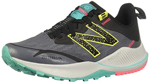 New Balance Women's DynaSoft Nitrel V4 Trail Running Shoe, Lead/Tidepool, 8