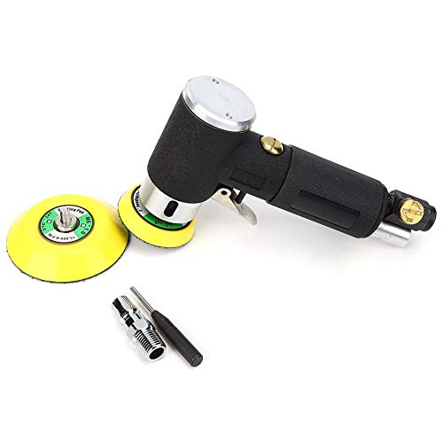 Mini Air Angle Sander, 2/3in Disc 90° Pneumatic Polishing Grinding Machine with 2pcs Grinding Disc, 1pcs Chuck and 1pcs Inlet Connector for Hardware, Furniture, Plastics