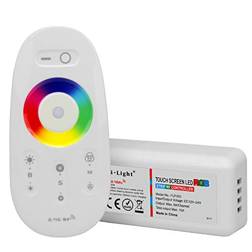 LIGHTEU®, 2,4GHz LED Fernbedienung und HF Controller für die RGB LED Streifen, Milight Miboxer fut025