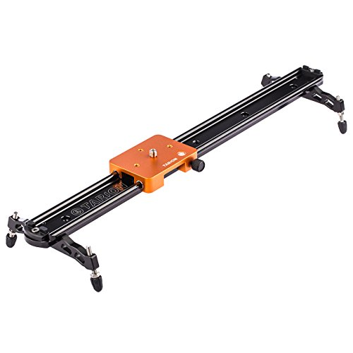 TARION TS2-60 Track Slider 60cm 24' Stabilization Rail System Damping Adjustable for 1/4' 3/8' Tripod Ball Head DSLR Video Camera Camcorder